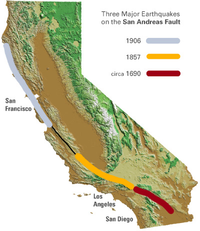 most famous faults the san andreas however few californians have experienced a major san andreas earthquake in northern california years