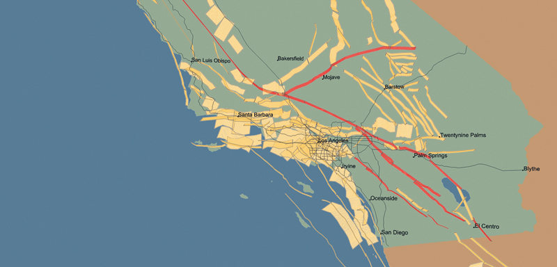 Southern California earthquakes and faults - Putting Down ...