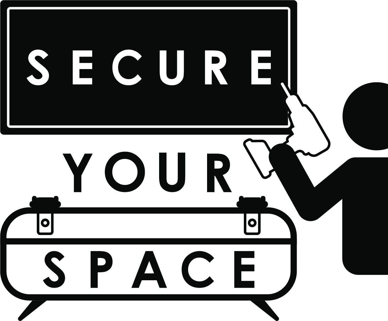 Secure Your Space logo in black and white
