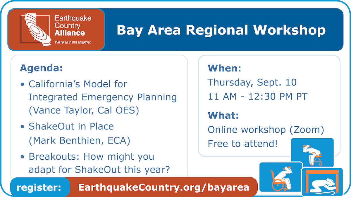 Promotional graphic for ECA Bay Area September 10 workshop, listing the speakers, topics, and date