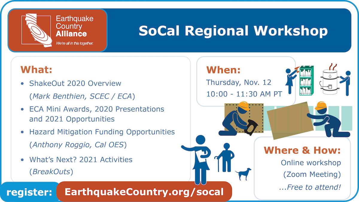 Promotional graphic for November 12, 2020 ECA SoCal Online Workshop