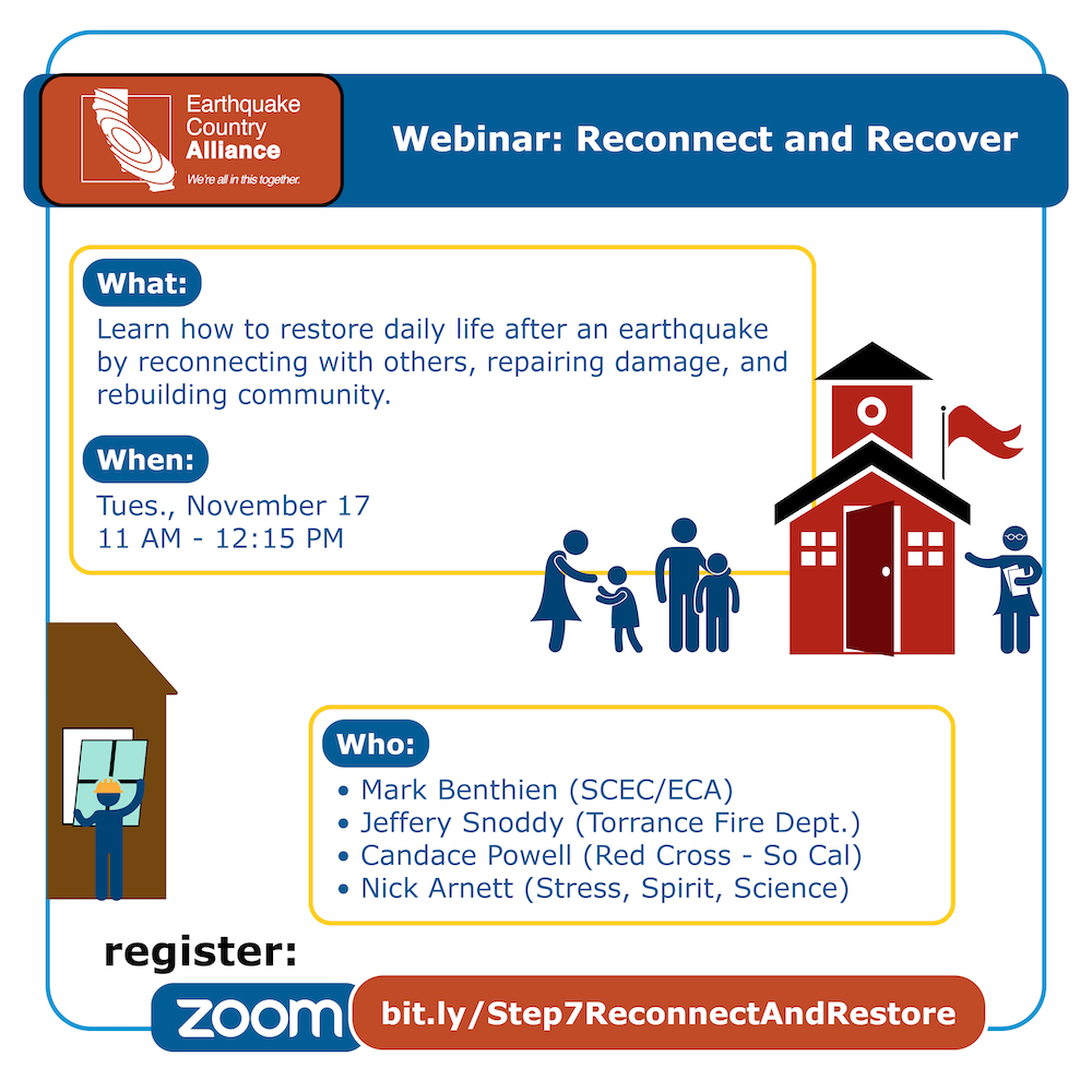 Step 7 webinar graphic with speakers, date, and time information